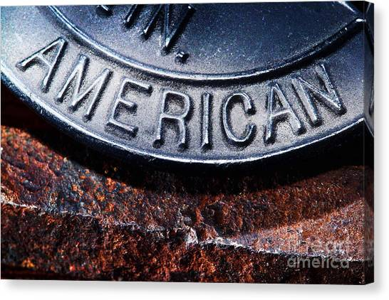 American Steel Canvas Print - American by Olivier Le Queinec