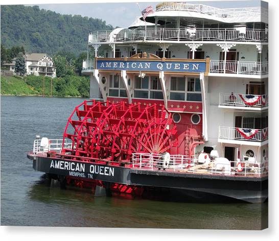 American Queen Paddlewheel Canvas Print by Willy  Nelson