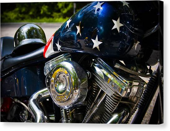 Choppers Canvas Print - American Ride by Adam Romanowicz