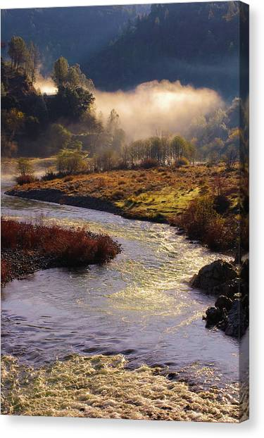 Canvas Print featuring the photograph American River Confluence by Sherri Meyer