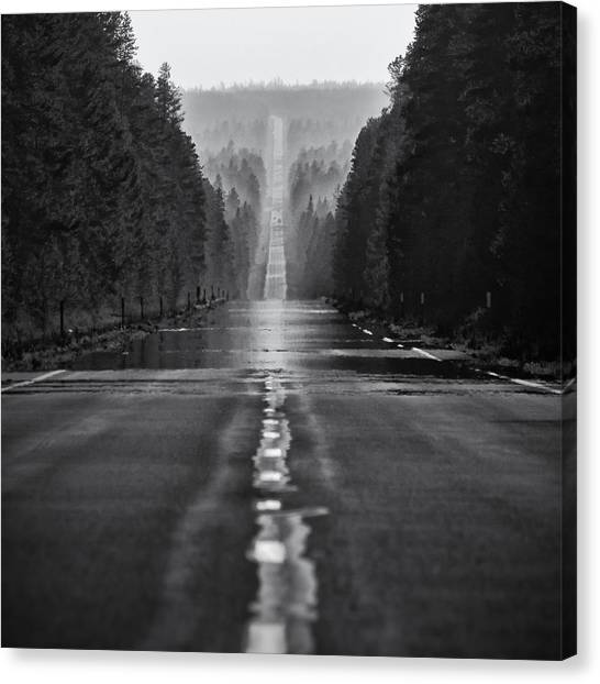 Mirages Canvas Print - American Road Trip by Alexis Birkill