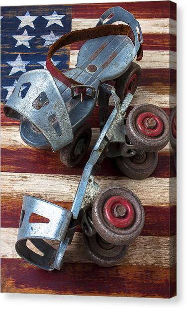 Roller Skating Canvas Print - American Roller Skates by Garry Gay
