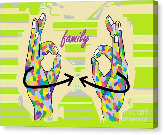American Sign Language Family                                                    Canvas Print