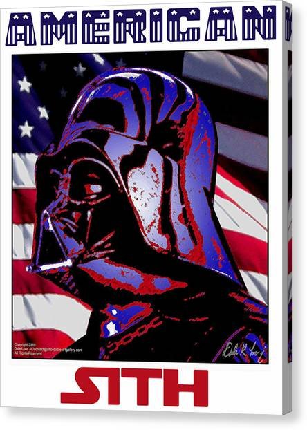 Canvas Print featuring the digital art American Sith by Dale Loos Jr