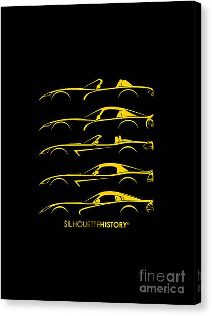Vipers Canvas Print - American Snakes Silhouettehistory by Gabor Vida