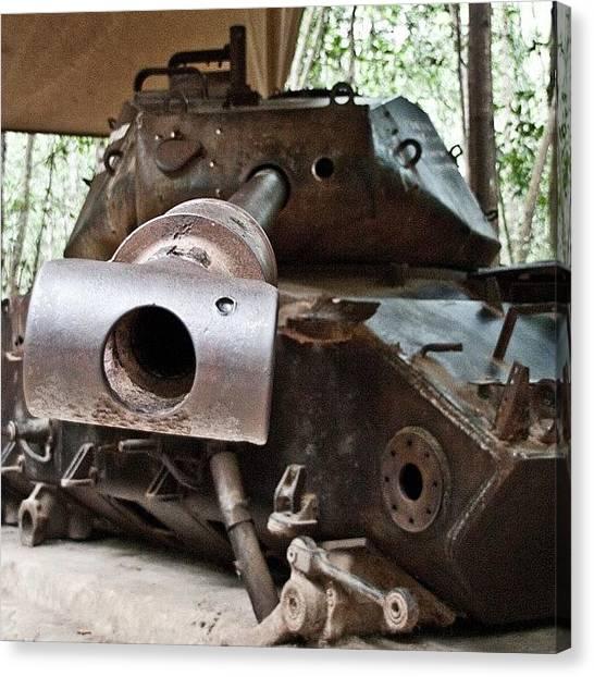 Vietnam War Canvas Print - American Tank Destroyed In Vietnam #nam by Tim Topping