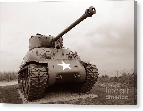 Tanks Canvas Print - American Tank by Olivier Le Queinec