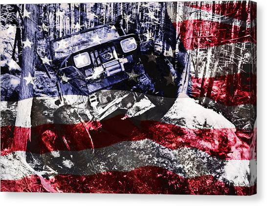 4x4 Canvas Print - American Wrangler by Luke Moore