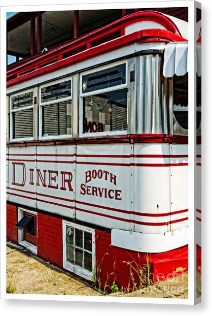 Condiments Canvas Print - Americana Classic Dinner Booth Service by Edward Fielding