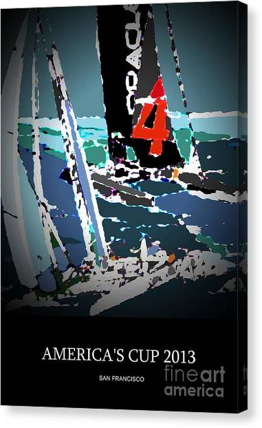 America's Cup 2013 Poster Canvas Print