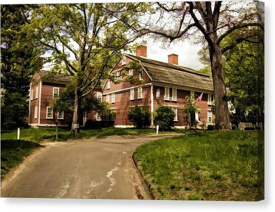 America's Oldest Inn Longfellow's Wayside Inn In Sudbury Massachusetts Canvas Print