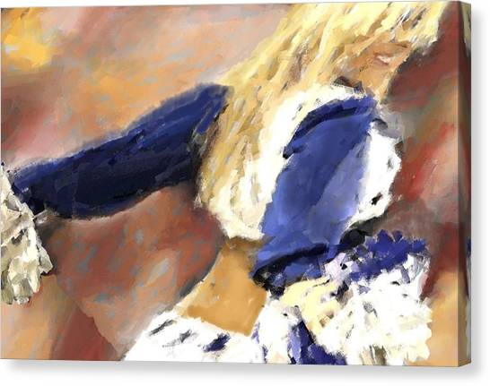 Dallas Cowboys Cheerleaders Canvas Print - Americas Sweetheart by Carrie OBrien Sibley