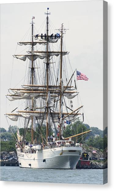 Americas Tall Ship The Eagle Canvas Print