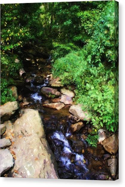 Amicalola Falls Canvas Print by Jennifer Hotai