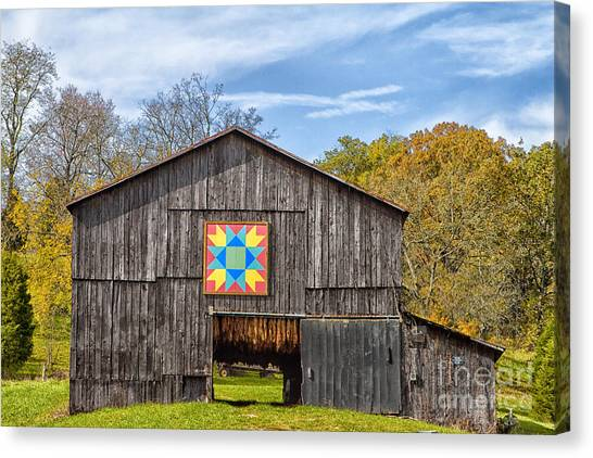 Amish Barn With Hex Canvas Print
