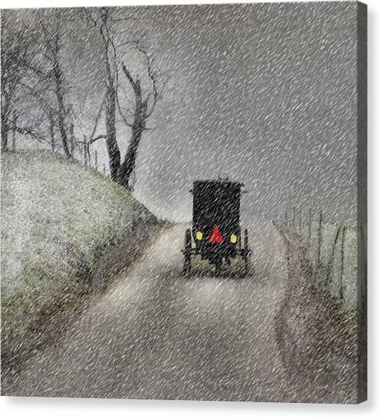 Amish Christmas Canvas Print