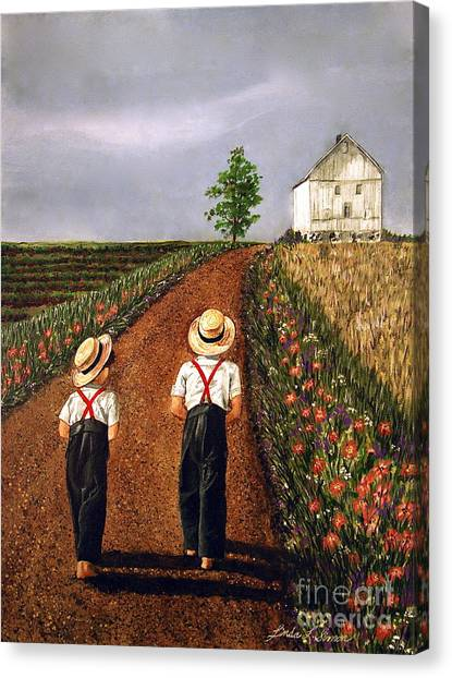 Amish Road Canvas Print