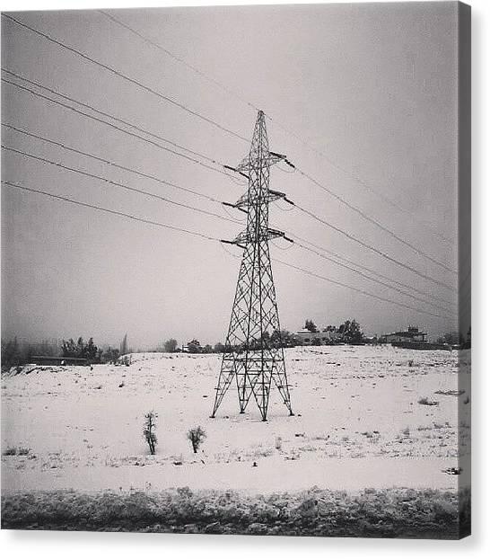 Snow Canvas Print - Amman, December 2013.  #jordan @beamman by Abdelrahman Alawwad
