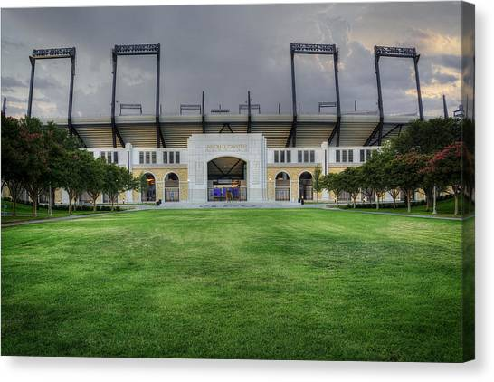 Texas Christian University Canvas Print - Amon G Carter Stadium Tcu by Joan Carroll
