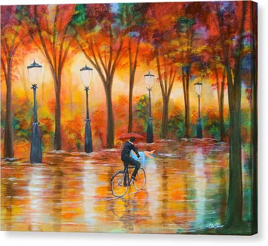 Amorous Rain Canvas Print