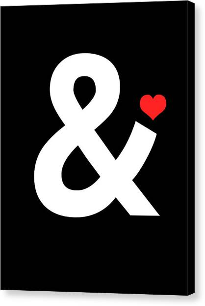 Hips Canvas Print - Ampersand Poster 4 by Naxart Studio