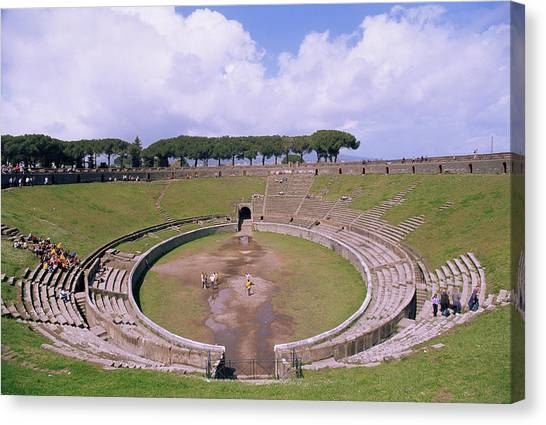 The Amphitheatre Canvas Print - Amphitheatre Ruins by Pasquale Sorrentino/science Photo Library