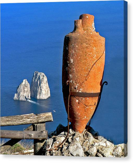 Amphora On The Island Of Capri 2 Canvas Print