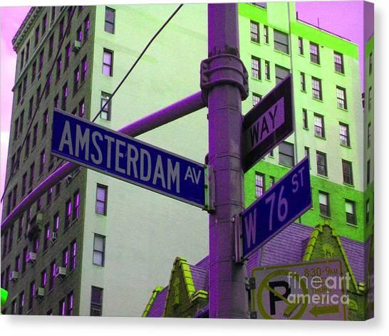 Amsterdam Avenue Canvas Print