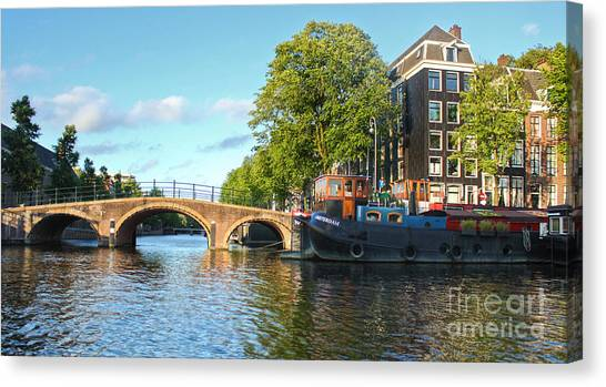 Amsterdam Canal Bridge Canvas Print by Gregory Dyer