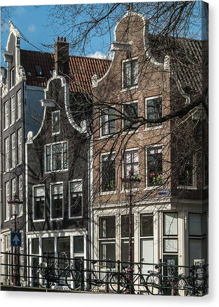 Amsterdam Canal Houses #1 Canvas Print