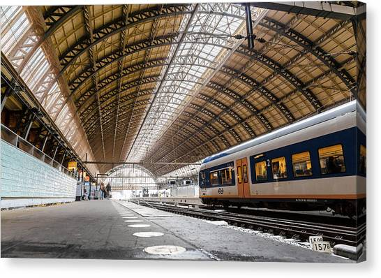 Amsterdam Centraal Railway Station Canvas Print