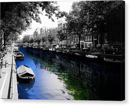 Boats Canvas Print - Amsterdam Colorsplash by Nicklas Gustafsson