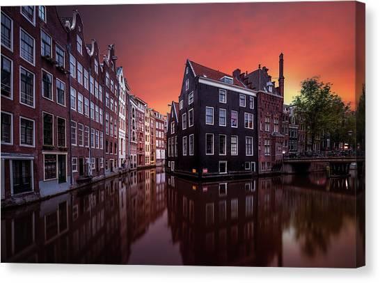 City Sunrises Canvas Print - Amsterdam Dawn by Merakiphotographer