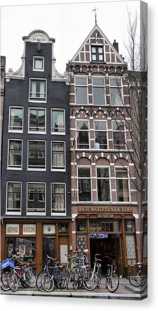 Amsterdam Hash Museum Canvas Print