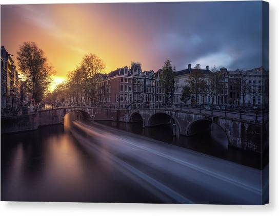 Holland Canvas Print - Amsterdam - Keizersgracht by Jean Claude Castor