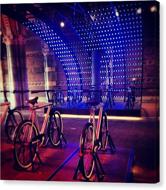 Rijksmuseum Canvas Print - #amsterdam #lightfestival #bikes by Ksenia Repina