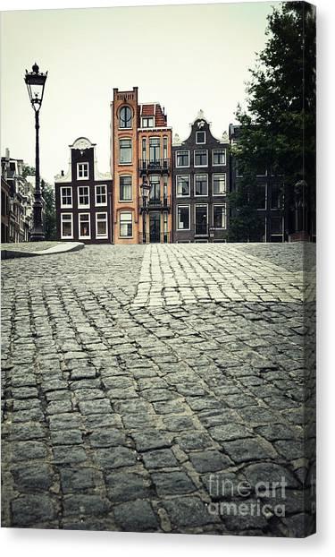 Brick House Canvas Print - Amsterdam Street by Jane Rix