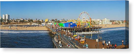 Santa Monica Pier Canvas Print - Amusement Park, Santa Monica Pier by Panoramic Images