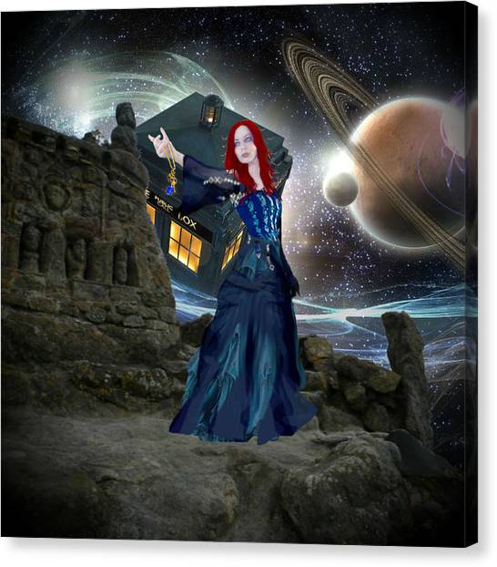 Amy And The Tardis Canvas Print