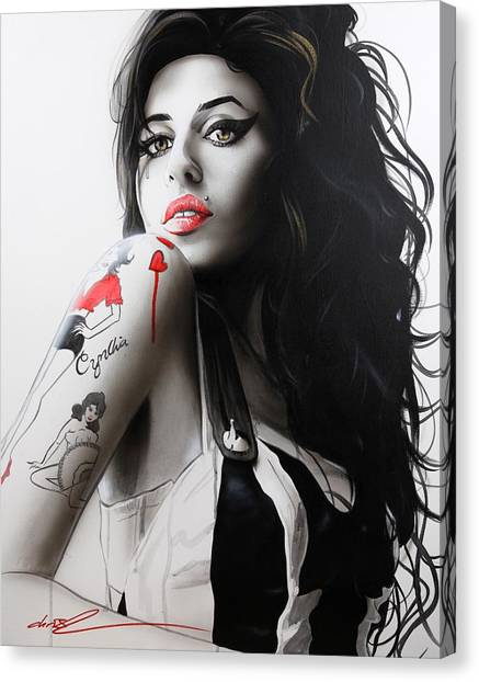 Rhythm And Blues Canvas Print - Amy by Christian Chapman Art