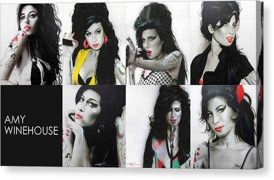 Microphones Canvas Print - Amy Eternal by Christian Chapman Art