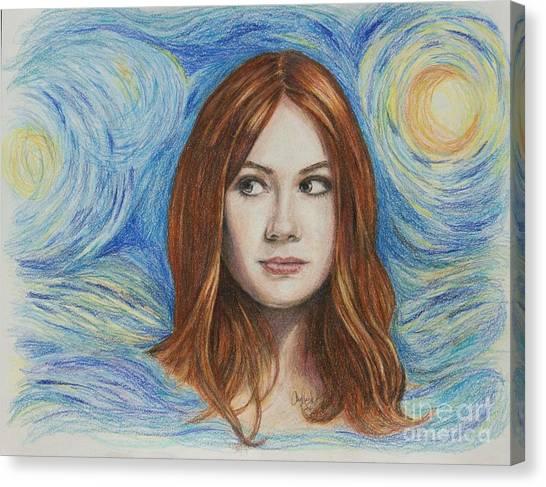 Amy Pond / Karen Gillan Canvas Print