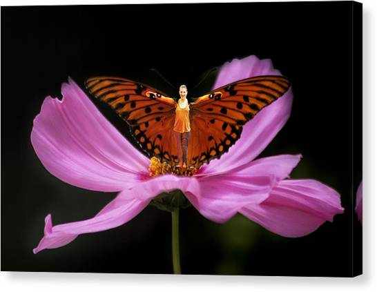 Amy The Butterfly Canvas Print