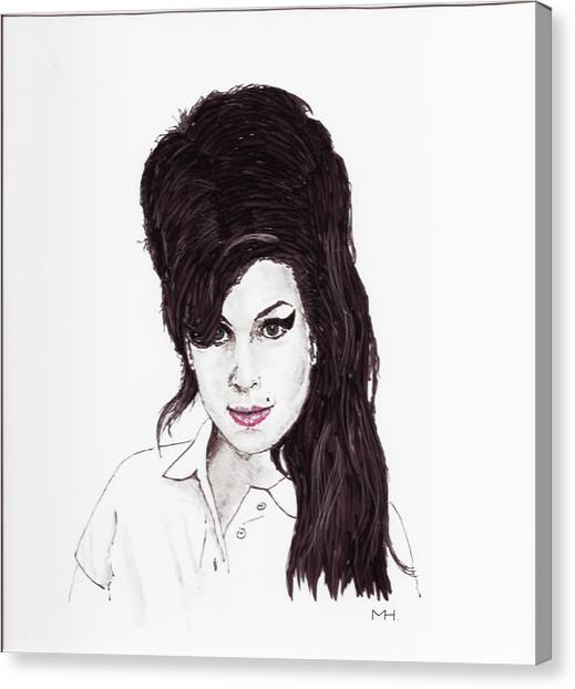 Amy Winehouse Canvas Print by Martin Howard