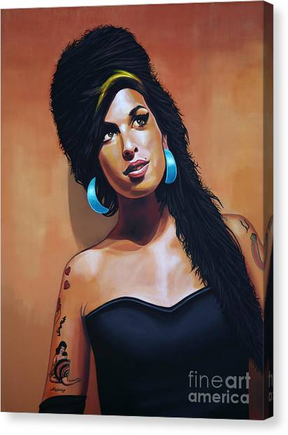 Party Canvas Print - Amy Winehouse by Paul Meijering