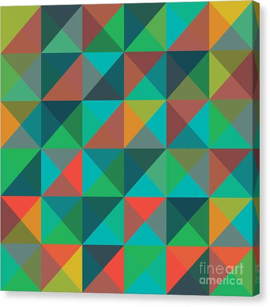 An Abstract Geometric Vector Pattern Canvas Print by Mike Taylor