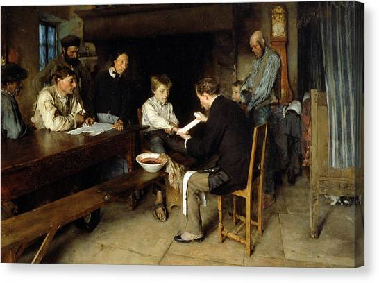 Gathered Canvas Print - An Accident by Pascal Adolphe Jean Dagnan Bouveret