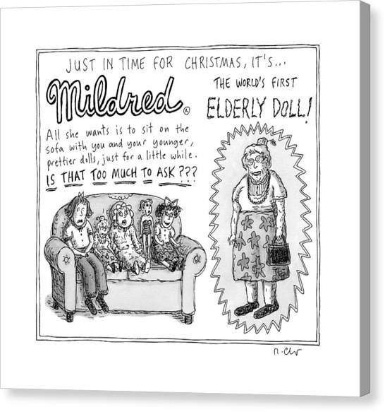 Grandma Canvas Print - An Advertisement For Mildred by Roz Chast