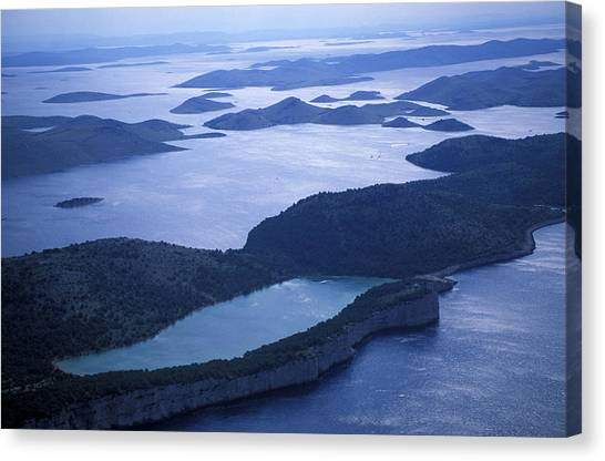 Dalmations Canvas Print - An Aerial View Of The Hundreds by Peter McBride