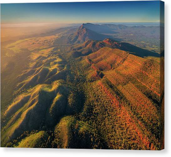 An Aerial View Of The Southern Flinders Canvas Print by Southern Lightscapes-australia